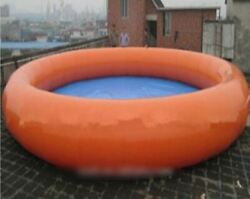 Inflatable 0.9mm Pvc Outdoor Patio Above Ground Swimming Pool With Pump New