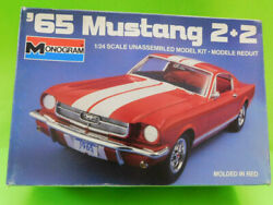 Vintage Monogram 65 Mustang 2+2 1985 Model Car Issue Open Parts In Sealed Bags