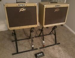 Early 90s Peavey Classic Amp With Extension Cab And 2 Button Foot Switch