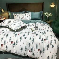 4 Pcs Idyllic Floral Cotton Bedding Set Printed Bed Sheet Duvet Covers And Sets