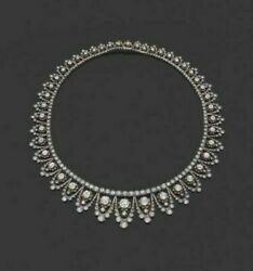 925 Sterling Silver Antique Vintage Style Round Floral Necklace For Women