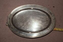 Vintage Sterling Silver Large 16 Tray Platter - Circa 1920s