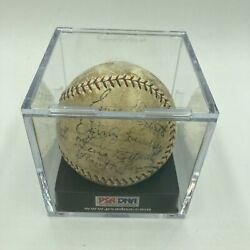 1930 World Series Game Used St. Louis Cardinals Team Signed Baseball Psa Dna Coa