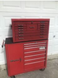 Snap On Kra4109 Lower And Matco Machinist Upper Rolling Tool Shop Garage Box