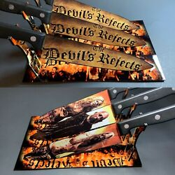 The Devil's Rejects Rob Zombie Knife Set With/without Laser Engraved Stands