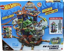 Hot Wheels City Hw Ultimate Garage Robo T-rex Tower Elevator Id Race Portal App