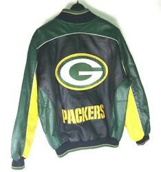 Cheese Head Packers Nfl Leather Oversized Varsity Suede Leather Jacket M Medium