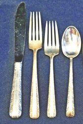 Candlelight By Towle Sterling Flatware Set For 12 By 4 Total 48 Pieces