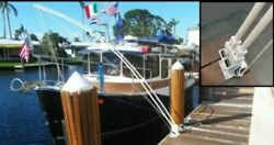 Mooring Whips For Large Boats 35' To 65' Dual System 4 - 14' X 1 Free Shipping