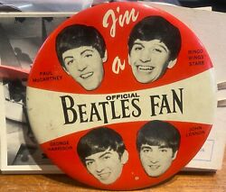 Lot Of 107 The Beatles T.c.g. Trading Cards And Official Beatles Fan Button