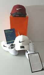 Combo-nike Air Zoom Tw '20 Men's White Spiked Golf Shoes Sz.12 And 2 Nike Hats