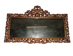 Mirror – Antique Hand Carved Beveled Glass. 5077