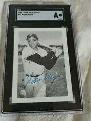 Willie Mays 1969 Topps Deckle Edge Dead Mint Proof -sgc Auth -undeckled Edge-