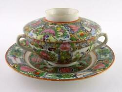 Vintage China Porcelain Roses Imperials Lidded Soup Bowl With Saucer Great Value