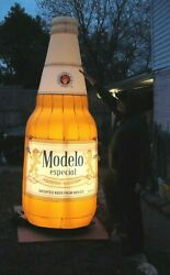 Modelo Especial 👑 Giant 9and039 Inflatable Beer Bottle Light W/blower Portable New