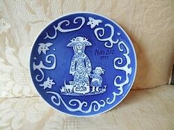 Vtg Royal Copenhagen 1971 Plate Denmark Mother Child And Cats Mothers Day