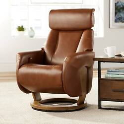 Augusta Brown Faux Leather 4-way Modern Recliner Chair