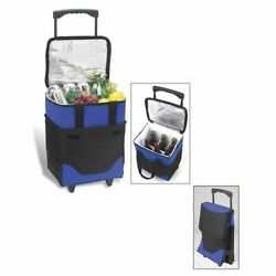 Picnic At Ascot 395drb Six Bottle Collapsible Cooler On Wheels- Royal Blue