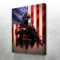 Pure Valor Canvas Print Wall Art-framed-various Size