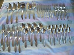 51 Pc. + 11 Piece Lot Towle Mary Chilton Sterling Silver Flatware - 64+ Ounces +