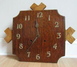 Antique Mission Style Arts And Crafts Wall Clock Wm L Gilbert Movement