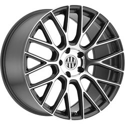 Staggered 22x9 / 22x10.5 Victor Equipment Stabil Gray 5x112 +22/+22 Wheels Rims