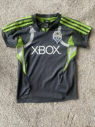 Adidas Seattle Sounders Jersey Youth Boys Large 14 Gray Mls