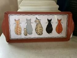 Ulster Weavers Decorative Tray Cat In Waiting Made In Italy 100 Melamine