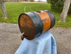 Rare Antique Maguire Oil Co Bartles Embossed Tractor Oil Barrel Gas Milwaukee Wi