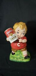 Campbell's Cookie Jar Boy Kid W/can Of Tomato Soup 13 Advertising Memorabilia