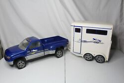 Breyer Traditional Size Horse Trailer And Dually Truck Rare 2002 Giddy Up
