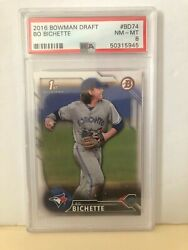 2016 Bowman Draft Bo Bichette Paper Rookie Card Psa 8 Nm-mt Bd74
