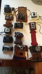 Vintage Camera Lot 12 Cameras In Great Condition Most In Case Or Box