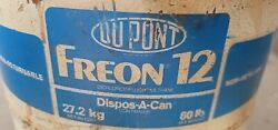 Dupont Freon 12 Partial Cylinder Tank Gross Weight Of 44.2 Pounds. 60lb Tank