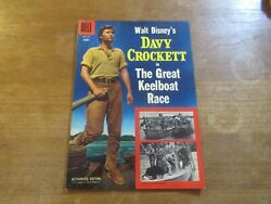 Four Color 664 Davy Crockett Great Keelboat Race High Grade 1950and039s Disney Tv