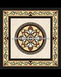 42 X 42'' Black Stone Coffee Top Center Table Home Arts