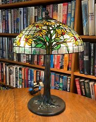 Antique Reproduction Yellow Black Eyed Susan Small Bronze Tree Base