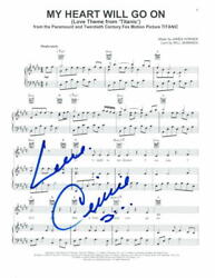 Celine Dion Signed Autograph My Heart Will Go On Sheet Music - Titanic, Rare