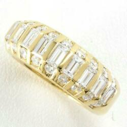 Jewelry 18k Yellow Gold Ring 13japan Size Diamond About10.0g Free Shipping Used