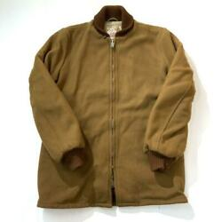 Clicker Car Coat 50s Vintage Jacket Brown Lining Rayon Men's Outerwear Rare Used