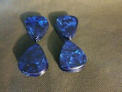 40 Pcs New Guitar Picks Celluloid Hard Pearl Blue See Detailed Pictures