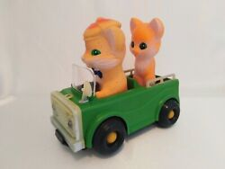 Ussr Vintage Toy Ogonyok Electromechanical Car Motorists In The Circus Cat