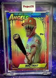 2021 Topps Project 70 Mike Trout 79 By Alex Pardee Rainbow Foil Sp 13/70 🌈