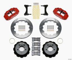 Wilwood Narrow Superlite 6r Front Hat Kit 12.88in Red For 93-96 Mazda Rx7 - Wil1