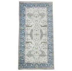 9x18 Ivory Oushak Hand-knotted Wool Area Rug Oriental Carpet 9and0391 X 17and0396