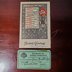 Pair Of Antique/vintage Girl Scouts Epherma Scout Laws And Registration Card