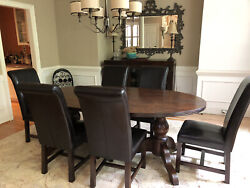 6 Leather Dining Chairs, Dark Brown, Purchased - Tequila Kola, Hong Kong