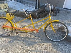 Vintage Huffy Tandem Bicycle Sunny Day Ride