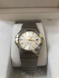 Auth Omega Watch Constellation Co-axial Automatic Case 35mm Chronograph Date F/s