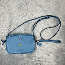 Coach Peanuts CrossBody Blue Leather Woodstock Snoopy Charlie Brown F1777 21817 $159.99